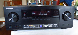 Home theater Pioneer 4K Receiver with 9 HDMI & Remote.