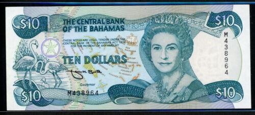 Bahamas 1974 ( 1992 ), 10 Dollars, P53, GEM UNC
