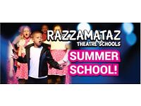 Summer School Razzamataz West Cumbria professional performing arts tuition for ages 4 to 16
