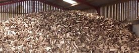 100% Hardwood logs fully seasoned or part seasoned. Ready to burn firewood. Cut and split timber