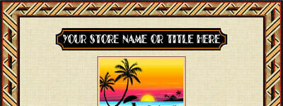 AUCTION TEMPLATE Decorative Orange Bands, Stripes Design - FREE Shipping - $2.49