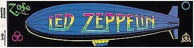 LED ZEPPELIN Zoso vintage RARE bumper STICKER
