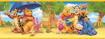 Winnie Puh Kinder Bordüre - Fototapete 17 m Tapete Zimmer Borte Pooh Poster Bild