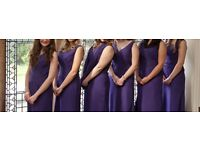 6 Cadbury purple bridesmaid dresses! Only worn once, sizes 12-20