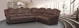 *COME AND VIEW IT ,TRY IT THEN BUY IT* BRAND NEW TEXAS CORNER SOFA BROWN FAST DELIVERY