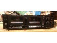 Trio KX-64W Double Cassette Deck