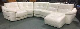 £3000 DFS Zara large leather corner sofa WE DELIVER UK