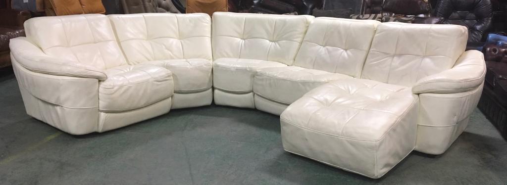 £3000 DFS Zara large leather corner sofa WE DELIVER UK