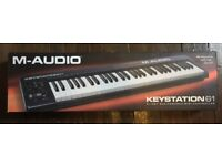 BRAND NEW - M-Audio Keystation61 key USB midi controller