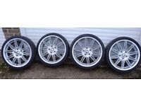 set of 4 BMW E93 series wheels and tyres for sale