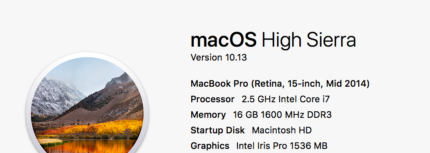 macbook pro 2014,  15 inch for sale