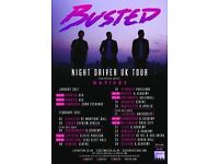 2 x STANDING BUSTED TICKETS EDINBURGH