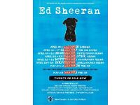 2 X Ed Sheeran Tickets * Standing * O2 Arena, London Tuesday 2nd May