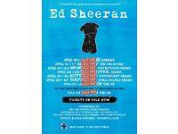 2 X Ed Sheeran Tickets * Standing * O2 Arena, London Tuesday 2nd May