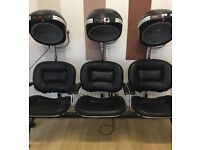 Hairdressers bank of 3 dryers