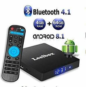 Android 8.1 TV Box with 4GB RAM 64GB ROM,  Supports 4K (60Hz)