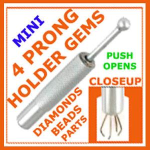 MINI-4-Pronged-Diamond-Gem-Stones-Beads-Holding-Tweezers-short-parts-pickup-tool