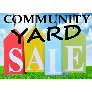 INDOOR COMMUNITY GARAGE SALE! SAT. SEPT. 28th. DON'T MISS IT!