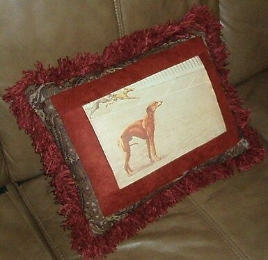 Whippet Dog Racing Decor Pillow New! Great Gift!