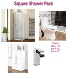 Modern Frameless Shower Enclosure Deal