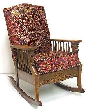 Antique Oak Rocking Chair Ebay