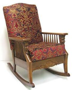 Gentil Antique Oak Rocking Chairs