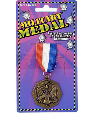 Military Medal Ribbon Award Army Dress Up Adult Halloween Costume Accessory](Halloween Costume Gold Medal)