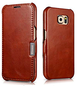 Galaxy S6 Case, Benuo - Handcrafted 100% Genuine Leather