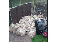 Clean rubble hard core about 2 cubic metres