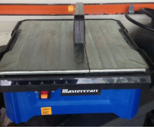 Mastercraft wet tile saw Like New