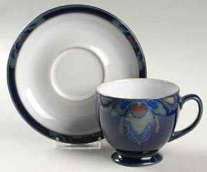 Cups, mug and saucers, pattern Baroque by Denby-Langley