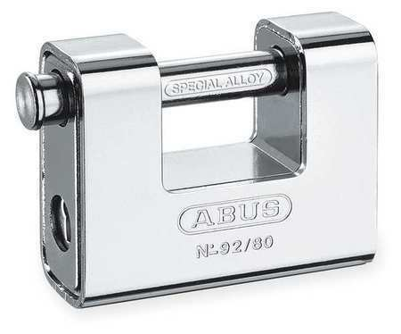 ABUS 92/80 KD U-Shaped Keyed Padlock,9/16 In H,KD