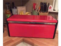 Red Brabantia Bread Bin (Wall Mountable)