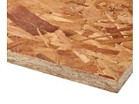 OSB Structural Grade Sterling Board 8'x4' (Oriented Strand Board Grade 2 or 3) Various Thicknesses