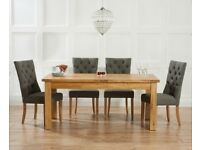 Solid oak 150-240cm ext table and 8 chairs