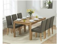 *BRAND NEW* 150cm (5') solid oak dining table