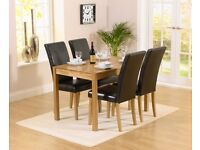 Modern 120cm solid oak table & 4 chairs