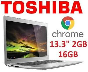 REFURB TOSHIBA 13.3 CHROMEBOOK PC LAPTOP NOTEBOOK COMPUTER 2GB 16GB CHROME OS 105939852