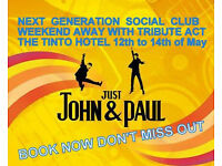 NEXT GENERATION SOCIAL CLUB...tribute weekend away...DONT MISS OUT