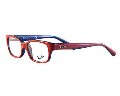 New Ray Ban KIDS RB1527 3577 Red on Blue Junior RX Prescription Eyeglasses (Ray Ban Junior Prescription Glasses)