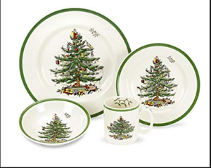 Spode China 4 piece Christmas place setting