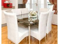 Glass Dining Table with or without 6 chairs £75 o.n.o.