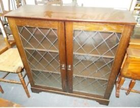 Leaded Glass Display Cabinet...