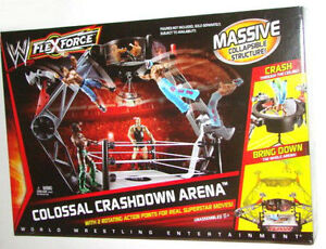 NIB WWE FLEXFORCE WRESTLING COLOSSAL CRASHDOWN ARENA