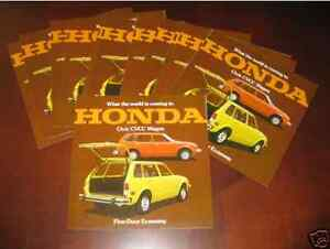 1975 Honda CVCC Station Wagon Brochure LOT OF 12
