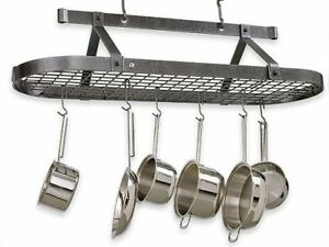 Brand New Classic Oval Hanging Pot Rack by Enclume 48""