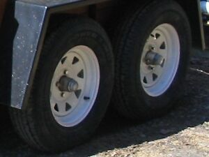 Four trailer wheels