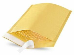 "Uline 6 x 10"" Bubble Mailers Envelope Box of 250- Gold"