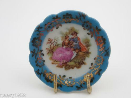 limoges miniature plate ebay. Black Bedroom Furniture Sets. Home Design Ideas