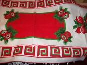 Red Christmas Table Runner
